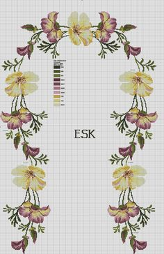 This Pin was discovered by Hül Cross Stitch Boards, Cross Stitch Heart, Cross Stitch Flowers, Cross Stitching, Cross Stitch Embroidery, Hand Embroidery, Embroidery Designs, Cross Stitch Designs, Cross Stitch Patterns