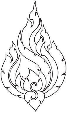 Wood burning pattern