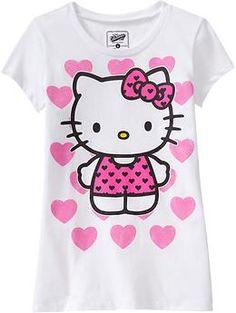 Girls Hello Kitty® Hearts Tees   Old Navy