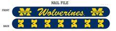 Michigan Wolverines Nail File - Navy