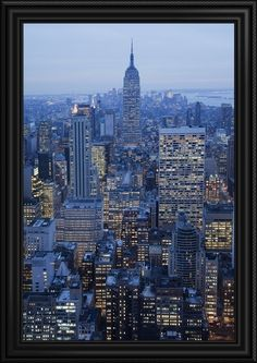 """Home to the Empire State Building, New York City is known for its scenic views. See more sizing for this""""New York City, New York"""" framed canvas print and more City Skyline wall art of this picturesque city at GreatBIGCanvas.com."""