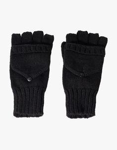 rękawiczki z trykotu bez palców