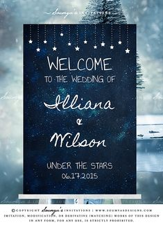 Celestial Wedding Welcome Sign, Under The Stars Wedding Sign | Feel free to contact me for matching items. © Soumya's Invitations | Soumya S. Mohanty | All Rights Reserved. www.soumyasdesigns.com Imitation, modification, or derivative works (matching items) of this design in any form, for any use, without explicit authorisation from me, is strictly prohibited. #wedding #weddinginspiration #weddingdecor