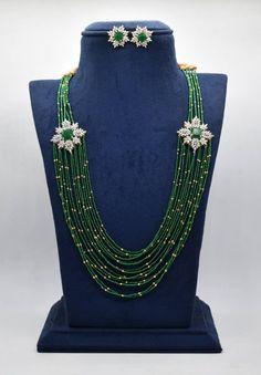 Diamond Choker, Diamond Jewelry, Beaded Jewelry, Jewelry Necklaces, Beaded Necklace, Jewellery, Short Necklace, Necklace Set, Indian Jewelry