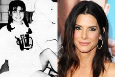 Sandra Bullock at Washington Lee High and post Oscar stardom — Seth Poppel/Yearbook Library/Getty Sandra Bullock Young, Sandro, Melissa Rycroft, Celebrities Then And Now, Young Celebrities, Diane Sawyer, Katie Couric, Paris Jackson, Denise Richards
