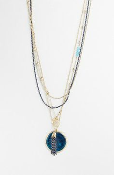 Sara Bella Multistrand Disc Pendant Necklace available at #Nordstrom