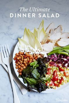 The Ultimate Dinner Salad. It's hearty and healthy and super easy to make.