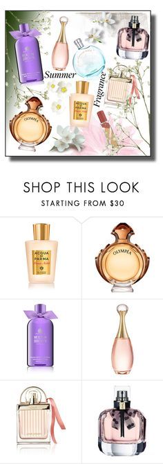 """""""MESSAGE IN A BOTTLE!!!"""" by kskafida ❤ liked on Polyvore featuring beauty, Acqua di Parma, Paco Rabanne, Molton Brown, Christian Dior, Chloé and Yves Saint Laurent"""