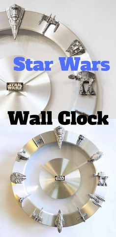Star Wars Starships and Fighters Clock - Star Wars Clock #starwars #clock #wallclock