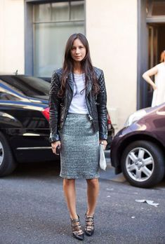My favorite two fabrics to mix together lately are leather and tweed. The tweed gives off ladylike vibes while leather is nothing but tough. Think Coco Chanel meets Kate Moss.  Tuesday Ten: January Style Tips