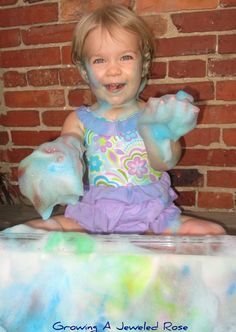 Giant Sponge Sensory Play ~ Growing A Jeweled Rose