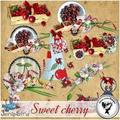 Sweet cherry - Embellishments by Black Lady Designs
