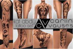 Sims 4 CC's - The Best: Tattoos by Carlinvauses