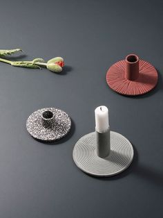 The minimalist design of this weighty cast iron candle holder makes it a wonderful and textural addition to any interior setting. Iron Candle Holder, Ceramic Candle Holders, Diy Candle Holders, Traditional Candle Holders, Best Candles, Decoration Design, Ceramic Painting, Tea Light Holder, Candlesticks