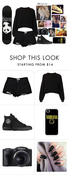 """""""Untitled #2"""" by cxjxxx ❤ liked on Polyvore featuring Boohoo, Topshop, Converse, Samsung and Enjoi"""