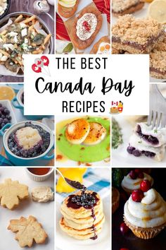 Looking for traditional and authentic Canadian recipes for Canada Day? Here is A collection of the best Canada Day food ideas and recipes - from maple cream cookies, to poutine, to old-fashioned date squares!. This compilation of 20 easy and fun Canada Day recipes will provide breakfast, lunch, snack, and dessert inspiration to celebrate a delicious Canada Day on July 1st.