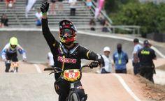 Carlos Álvarez, campeón mundial de BMX en challenger cruiser 13 y 14 años, el 27 de mayo en Medellín.