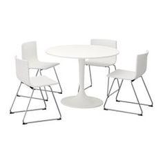 IKEA BERNHARD/DOCKSTA table and 4 chairs