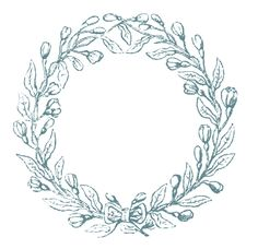 Vintage Clip Art - Lovely Delicate Wreath Frames - The Graphics Fairy