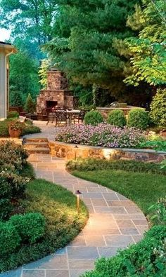 Love the walkway and raised beds for landscaping