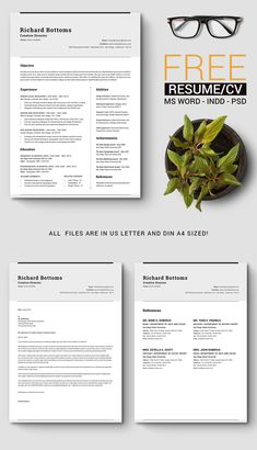 This is Free Timeless Resume Template for any job and any applicant Best Resume Template, Cv Template, Creative Resume Templates, Templates Free, Resume Tips, Resume Cv, Free Resume, Graphic Design Resume, Job Help