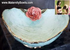 Maternity Bowls are ceramic bowls made from a cast of your baby belly bump! These pregnancy bump keepsakes include personalized options that come in any color. Unique Bridal Shower, Unique Baby Shower Gifts, Pregnancy Bump, Pregnancy Photos, Belly Casting, Belly Bump, Casting Kit, Newborn Baby Photos, Baby Shower Activities