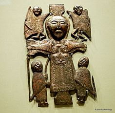 This gilt bronze plaque is one of the earliest surviving representations of the Crucifixion in Ireland