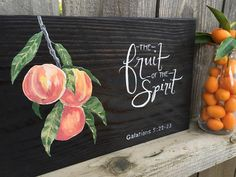 "Rustic sign, ""The Fruit of the Spirit"" wood sign, home decor, handpainted, art by TheArtistryOutlet on Etsy https://www.etsy.com/listing/268210001/rustic-sign-the-fruit-of-the-spirit-wood"