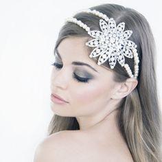 Vintage hollywood enchantment flower deco bridal headband