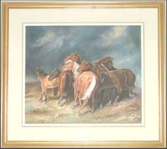 """20th Century Titled: """"Horses In A Storm"""""""