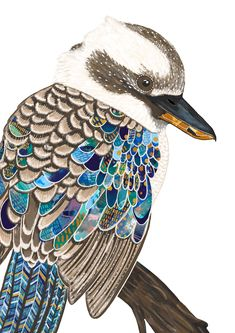 Kookaburra print bird print kookaburra kookaburra art kookaburra painting native of Australia Australian bird Australian animal bird Australian Animals, Australian Art For Kids, Australian Artists, Animal Art Projects, Bird Artwork, Wildlife Art, Bird Prints, Mosaic Art, Medium Art