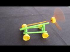 Comment faire une Bande de Caoutchouc alimenté Voiture   modèle de papier - YouTube