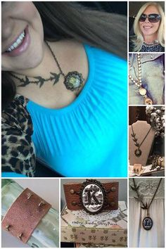 Here at Plunder we have NUMEROUS pendants we offer to you, from premade BOLD statement ones all the way to pendants and photo charms you can customize with whatever you'd like! Here are a few examples of different ways 1 cuff and 2 necklaces have been worn with a few pendant choices!