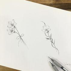 ∥flower illust design∥꽃 도안∥ . . . . #illust #tattoo #tattoodesign #wonseok #tattooist #flowerdrawing #tattoos #drawing #tinytattoo…