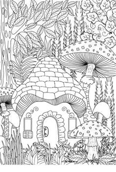 Landscape Coloring Books for Adults. 20 Landscape Coloring Books for Adults. Landscape Coloring Page Fairy Coloring Pages, Adult Coloring Book Pages, Printable Adult Coloring Pages, Coloring Pages To Print, Coloring Books, Free Adult Coloring, Colorful Drawings, Stock Photos, Interior Livingroom