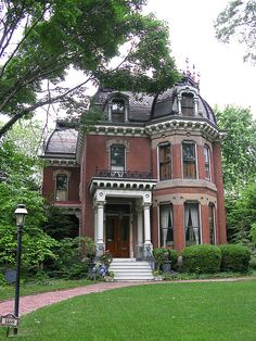Victorian Brick House Architecture Design And Ideas - Victorian Architecture, Beautiful Architecture, Beautiful Buildings, Beautiful Homes, Architecture Design, Classic Architecture, Victorian Style Homes, Victorian Houses, Victorian Decor