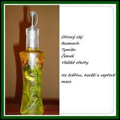 ochucený olivový olej