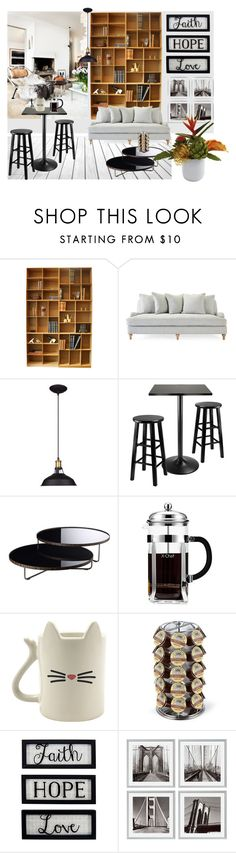 """""""modern style living room"""" by ioakleaf on Polyvore featuring interior, interiors, interior design, home, home decor, interior decorating, Winsome, Modloft, Keurig and New View"""