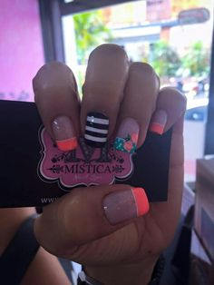 trend nail design inspiration picture - Page 47 of 109 29 Cute Spring Nails, Summer Nails, Cute Nail Art, Cute Nails, Neon Nail Designs, Manicure, Elegant Nails, Neon Nails, Flower Nails