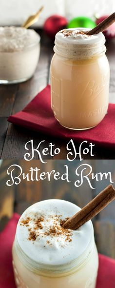 Keto Hot Buttered Rum - Low Carb, Gluten Free | Peace Love and Low Carb  via @PeaceLoveLoCarb: