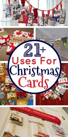 For those of you that like to keep holiday cards, here are 20+ things to do with Christmas cards. What to do with old Christmas cards, uses for Christmas cards, upcycle Christmas cards