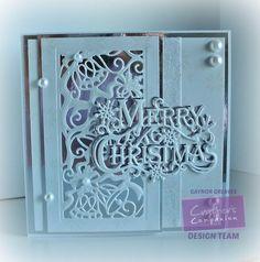 7 x 7 card using the Sara Signature Traditional Christmas. collection Christmas…