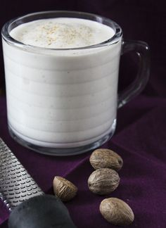 Banana Nutmeg Smoothie - could use just vanilla soy ice cream since sometimes soy yogurt is just flat out disgusting! But, I would be willing to try both options.