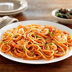 Spaghetti with Shrimp and Tomato and Basil Sauce Allrecipes.com
