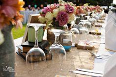 bridal dinner setup