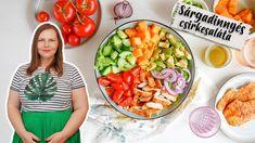 Sárgadinnyés csirkesaláta recept Cobb Salad, Food, Meal, Essen, Hoods, Meals, Eten