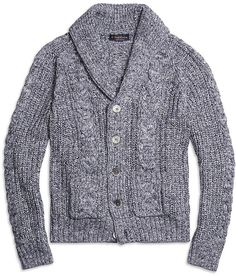 Supima® Cotton Marled Cable Cardigan