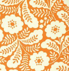 One Yard 1 Yard of Primrose in Tangerine by LlamaFabrics on Etsy