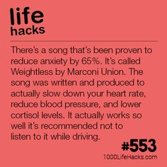 This Song Reduces Anxiety Life Hacks) Dieses Lied reduziert die Angst 1000 Lebenshacks Simple Life Hacks, Useful Life Hacks, Cool Hacks, Organization Ideas For The Home Diy, School Life Hacks, College Life Hacks, School Ideas, 1000 Lifehacks, Bulletins