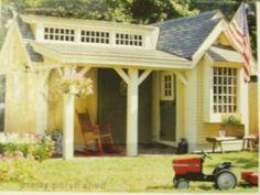 Sensational Garden Shed Kid's Playhouse Plans | eBay
